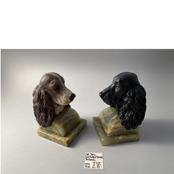 1930's Cold Painted Bronze Bookends, SHAPIRO & Co - image 3
