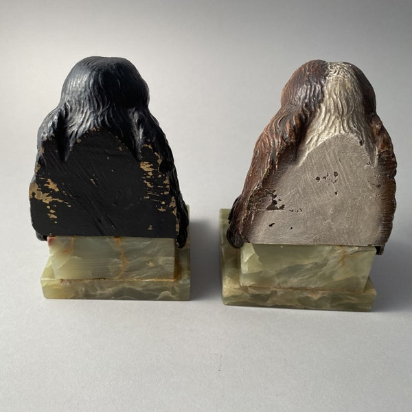 1930's Cold Painted Bronze Bookends, SHAPIRO & Co - image 6