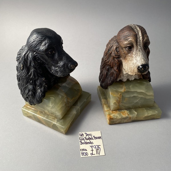 1930's Cold Painted Bronze Bookends, SHAPIRO & Co - image 7