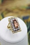 An extraordinary Imperial Topaz and Diamond Dress Ring in 18 Carat Yellow & White Gold (marked), Circa 1960. - image 1