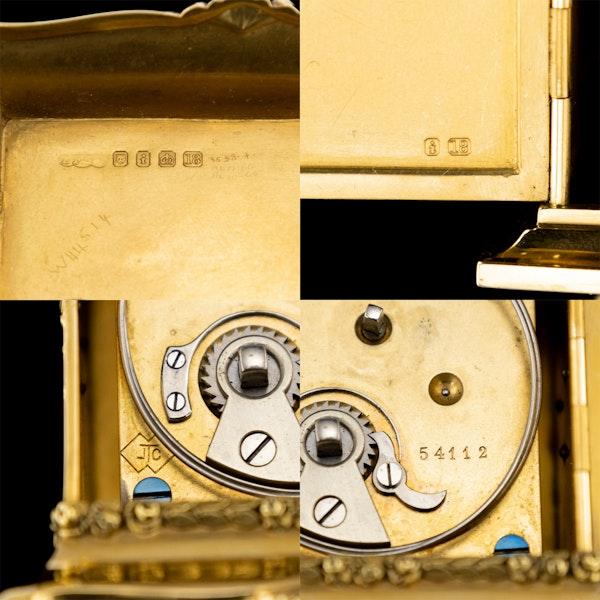 ANTIQUE 20thC 18K GOLD QUARTER REPEATING CARRIAGE CLOCK, LONDON c.1924 - image 17