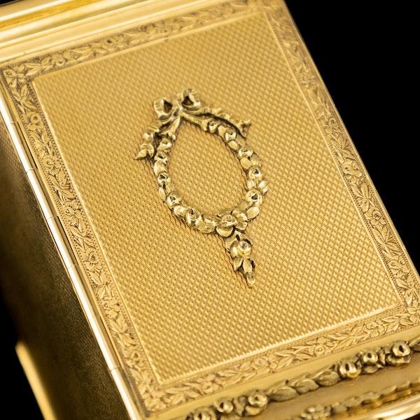 ANTIQUE 20thC 18K GOLD QUARTER REPEATING CARRIAGE CLOCK, LONDON c.1924 - image 16