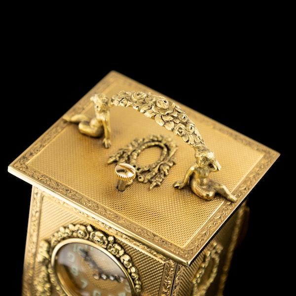 ANTIQUE 20thC 18K GOLD QUARTER REPEATING CARRIAGE CLOCK, LONDON c.1924 - image 8