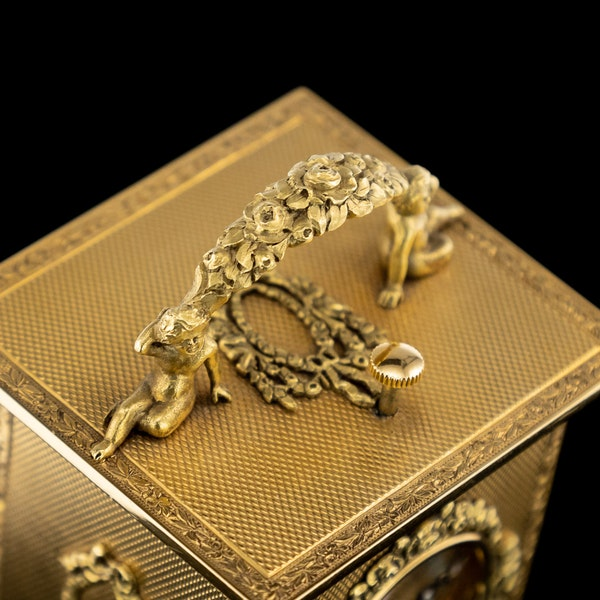 ANTIQUE 20thC 18K GOLD QUARTER REPEATING CARRIAGE CLOCK, LONDON c.1924 - image 11
