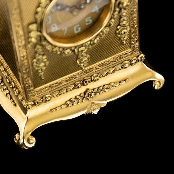 ANTIQUE 20thC 18K GOLD QUARTER REPEATING CARRIAGE CLOCK, LONDON c.1924 - image 15
