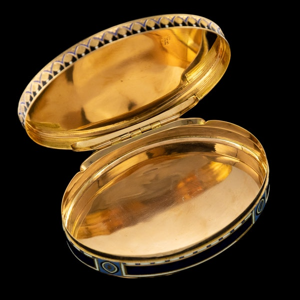 ANTIQUE 19thC SWISS 18k GOLD & ENAMEL SNUFF BOX, GUIDON, GIDE & BLONDET c.1800 - image 4