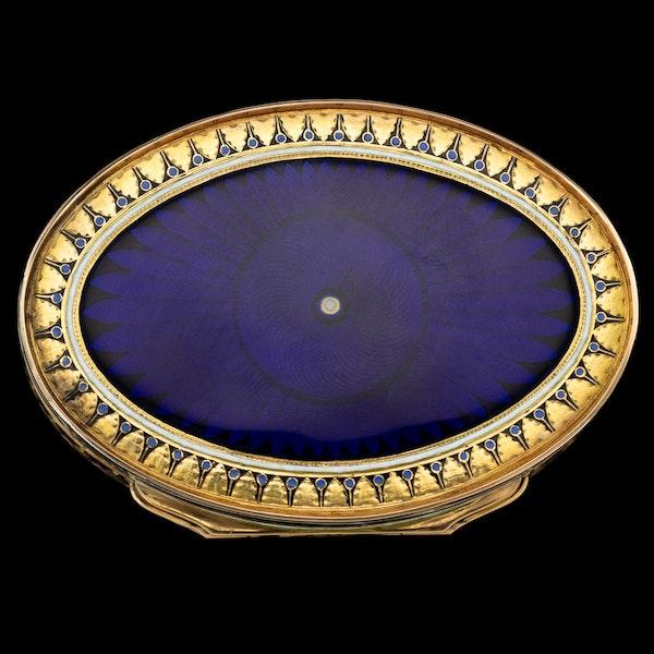 ANTIQUE 19thC SWISS 18k GOLD & ENAMEL SNUFF BOX, GUIDON, GIDE & BLONDET c.1800 - image 3
