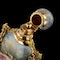 ANTIQUE 19thC FRENCH 18K GOLD & PAINTED ENAMEL SCENT BOTTLE c.1860 - image 13