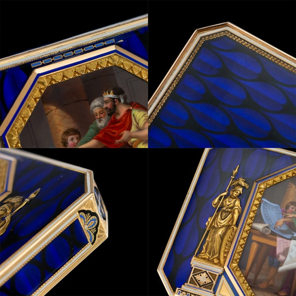 ANTIQUE 19thC SWISS 18k GOLD & ENAMEL SNUFF BOX, REMOND, LAMY & CIE c.1800 - image 10