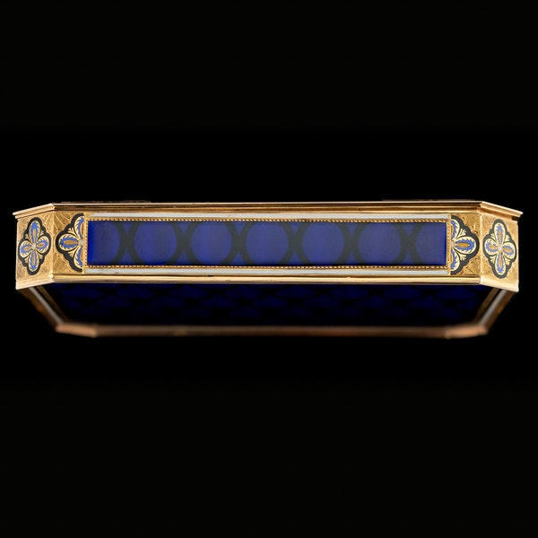 ANTIQUE 19thC SWISS 18k GOLD & ENAMEL SNUFF BOX, REMOND, LAMY & CIE c.1800 - image 4