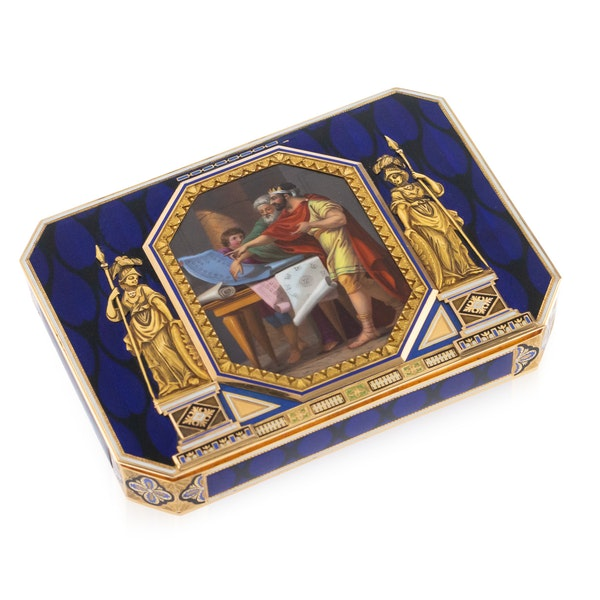 ANTIQUE 19thC SWISS 18k GOLD & ENAMEL SNUFF BOX, REMOND, LAMY & CIE c.1800 - image 1