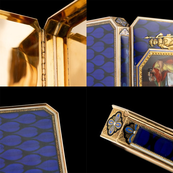 ANTIQUE 19thC SWISS 18k GOLD & ENAMEL SNUFF BOX, REMOND, LAMY & CIE c.1800 - image 11