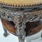 Chinese marble topped wood stand with prunus blossom carving - image 2