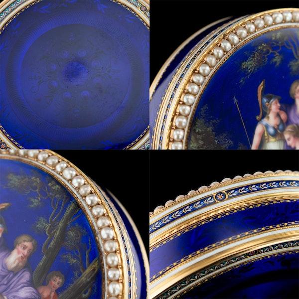 ANTIQUE 18thC SWISS 18k GOLD & ENAMEL SNUFF BOX, GUIDON, REMOND & GIDE c.1790 - image 11