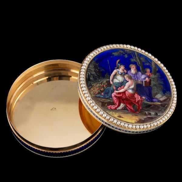 ANTIQUE 18thC SWISS 18k GOLD & ENAMEL SNUFF BOX, GUIDON, REMOND & GIDE c.1790 - image 5