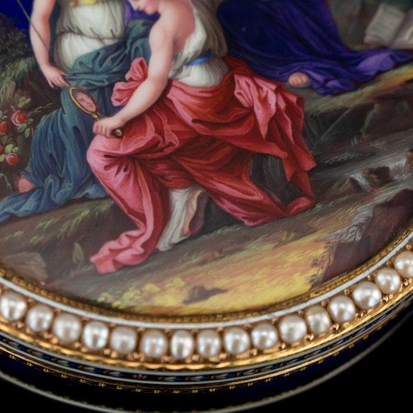 ANTIQUE 18thC SWISS 18k GOLD & ENAMEL SNUFF BOX, GUIDON, REMOND & GIDE c.1790 - image 7
