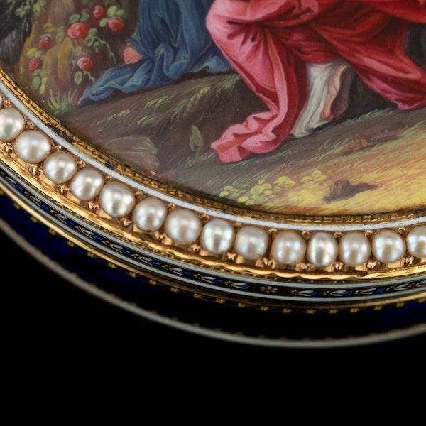 ANTIQUE 18thC SWISS 18k GOLD & ENAMEL SNUFF BOX, GUIDON, REMOND & GIDE c.1790 - image 6