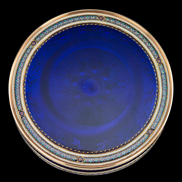 ANTIQUE 18thC SWISS 18k GOLD & ENAMEL SNUFF BOX, GUIDON, REMOND & GIDE c.1790 - image 3