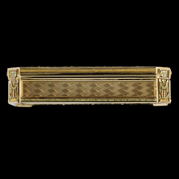 ANTIQUE 19thC SWISS 18k THREE-COLOUR GOLD SNUFF BOX, GENEVA c.1800 - image 5