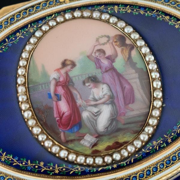 ANTIQUE 18thC FRENCH 18k GOLD & ENAMEL SNUFF BOX, PARIS c.1784 - image 6