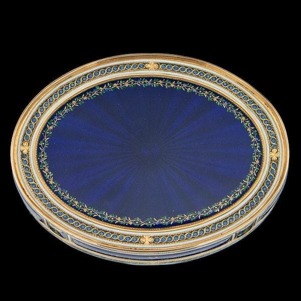 ANTIQUE 18thC FRENCH 18k GOLD & ENAMEL SNUFF BOX, PARIS c.1784 - image 4
