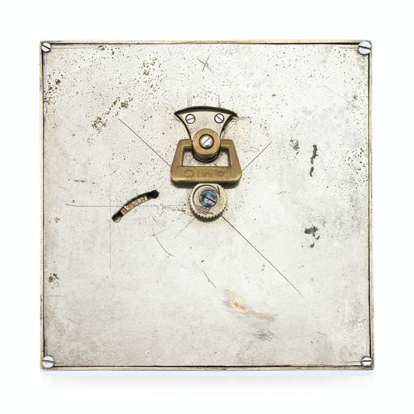 ELEGANT 20thC CARTIER SILVER PLATED & ENAMEL DESK CLOCK c.1945 - image 3