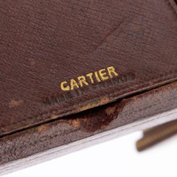 ELEGANT 20thC CARTIER SILVER PLATED & ENAMEL DESK CLOCK c.1945 - image 7