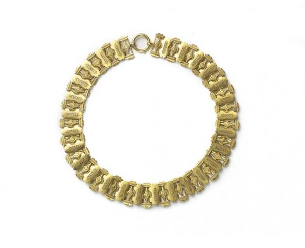 Victorian Gold Collar Necklace, Circa 1875 - image 1