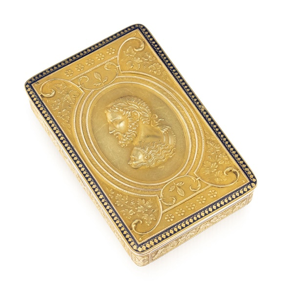 ANTIQUE 19thC SWISS 18k GOLD & ENAMEL SNUFF BOX, GENEVA c.1800 - image 1