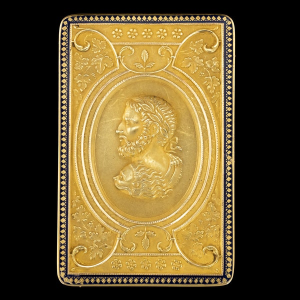ANTIQUE 19thC SWISS 18k GOLD & ENAMEL SNUFF BOX, GENEVA c.1800 - image 2