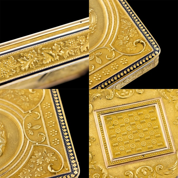 ANTIQUE 19thC SWISS 18k GOLD & ENAMEL SNUFF BOX, GENEVA c.1800 - image 12