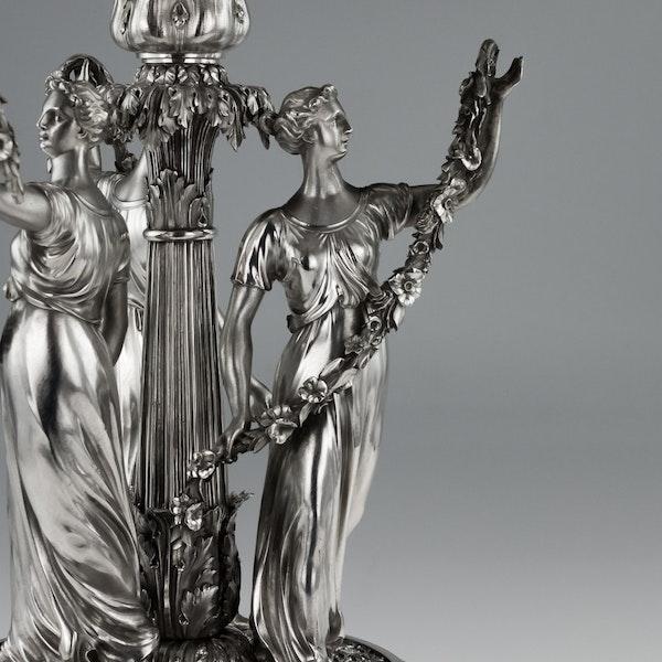 ANTIQUE 19thC GEORGIAN SOLID SILVER FIGURAL CENTERPIECE, BENJAMIN SMITH c.1822 - image 6