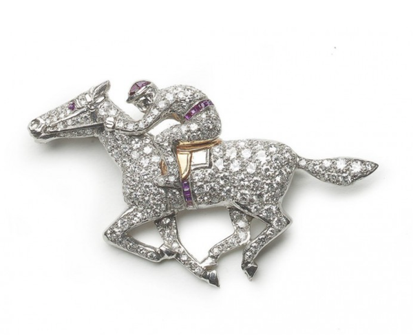 Horse And Jockey Brooch - image 1