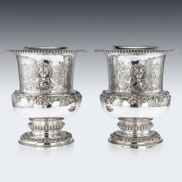 SUPERB 20thC ELIZABETH II SOLID SILVER WINE COOLERS, GARRARD & CO c.1972 - image 3