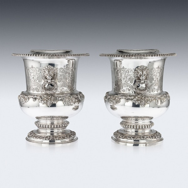 SUPERB 20thC ELIZABETH II SOLID SILVER WINE COOLERS, GARRARD & CO c.1972 - image 5