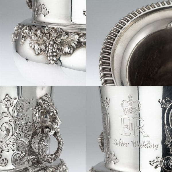 SUPERB 20thC ELIZABETH II SOLID SILVER WINE COOLERS, GARRARD & CO c.1972 - image 8