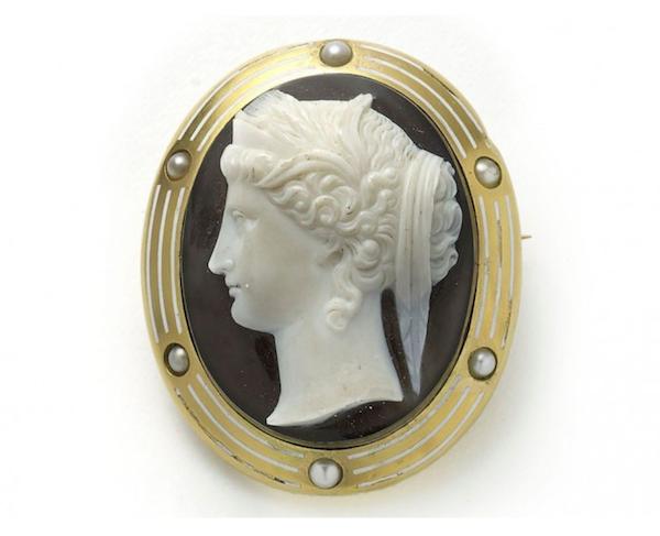 Hera Cameo Brooch - image 1