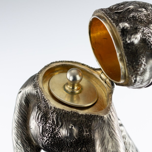 ANTIQUE 20thC RUSSIAN FABERGE LIGHTER IN THE FORM OF A CHIMPANZEE c.1900 - image 9