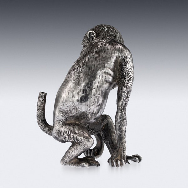 ANTIQUE 20thC RUSSIAN FABERGE LIGHTER IN THE FORM OF A CHIMPANZEE c.1900 - image 5