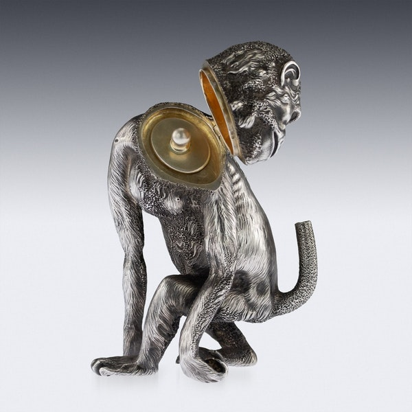 ANTIQUE 20thC RUSSIAN FABERGE LIGHTER IN THE FORM OF A CHIMPANZEE c.1900 - image 3