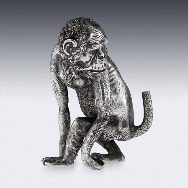 ANTIQUE 20thC RUSSIAN FABERGE LIGHTER IN THE FORM OF A CHIMPANZEE c.1900 - image 2