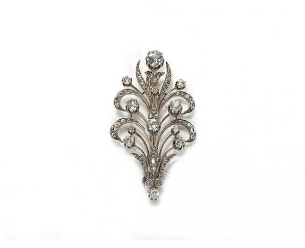 Cartier Diamond Brooch - image 1