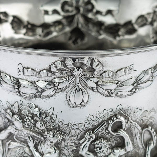 ANTIQUE 19thC GERMAN SOLID SILVER WINE COOLERS, GEORG ROTH, HANAU c.1890 - image 8