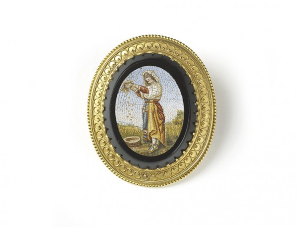 Antique Micromosaic Brooch - image 1