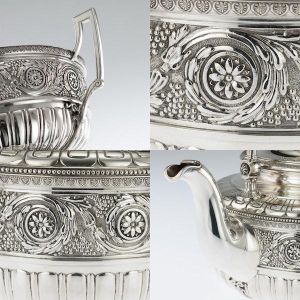 ANTIQUE 19thC AUSTRIAN EMPIRE SOLID SILVER TEA SERVICE, KLINKOSCH c.1880 - image 8
