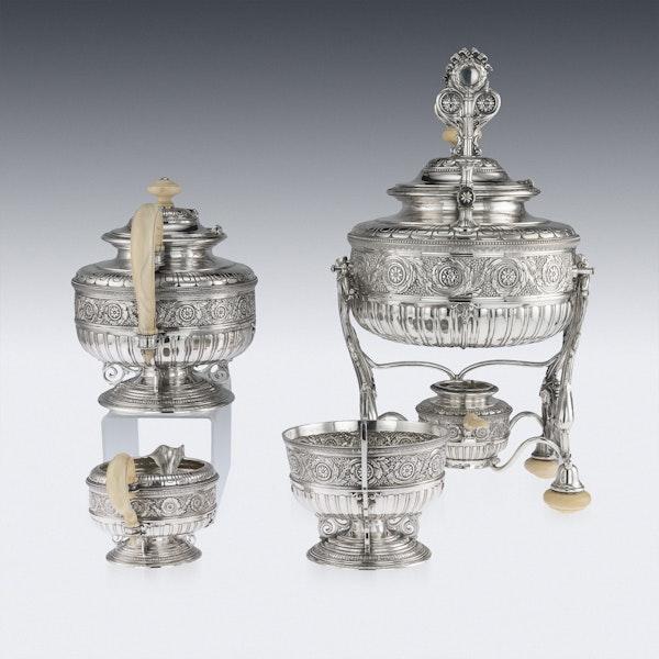 ANTIQUE 19thC AUSTRIAN EMPIRE SOLID SILVER TEA SERVICE, KLINKOSCH c.1880 - image 2