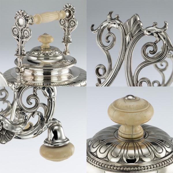 ANTIQUE 19thC AUSTRIAN EMPIRE SOLID SILVER TEA SERVICE, KLINKOSCH c.1880 - image 7