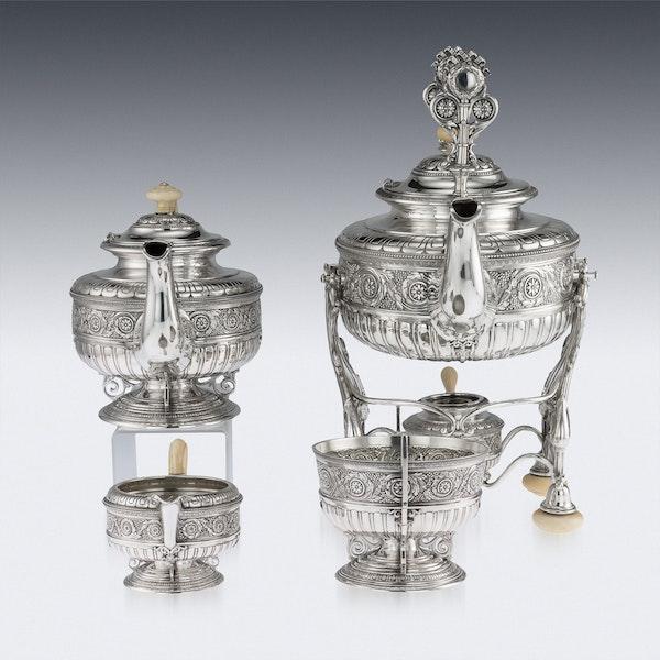 ANTIQUE 19thC AUSTRIAN EMPIRE SOLID SILVER TEA SERVICE, KLINKOSCH c.1880 - image 4
