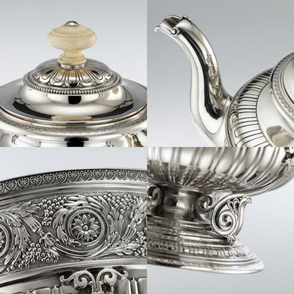ANTIQUE 19thC AUSTRIAN EMPIRE SOLID SILVER TEA SERVICE, KLINKOSCH c.1880 - image 10