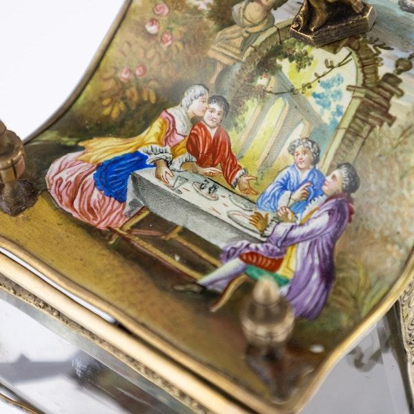 ANTIQUE 19thC AUSTRIAN SOLID SILVER-GILT & ENAMEL CARRIAGE, VIENNA c.1890 - image 19